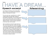 """""""I Have A Dream"""" Getting the Gist"""