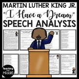 """""""I Have A Dream"""" Speech Analysis Worksheet, Martin Luther King Jr., Civil Rights"""
