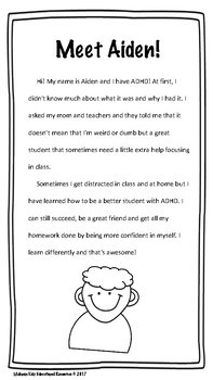"""""""I Have ADHD and I'm Awesome"""" Social Story"""