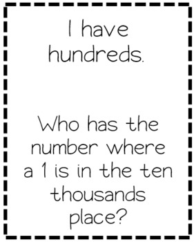 """I Have"" Chain Cards for Place Value"