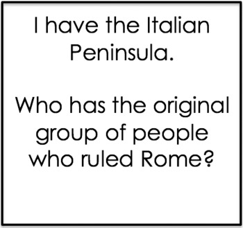 """""""I Have, Who Has?"""" Ancient Rome"""