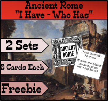 """""""I Have, Who Has"""" Ancient Rome FREEBIE"""
