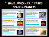 """""""I Have...Who Has"""" Cards : SPACE AND PLANETS (with webquest)"""