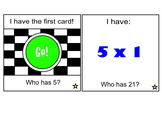"""""""I Have... Who Has?"""" Game - Multiplication 1 x 1 - 9 x 9"""