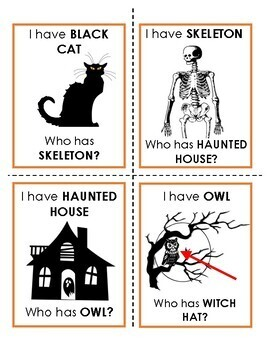 """I Have, Who Has?"" Halloween Vocabulary Game"