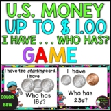 """""""I Have, Who Has?"""" Money Game (CCSS - Adding Quarters, Dimes, Nickles, Pennies)"""