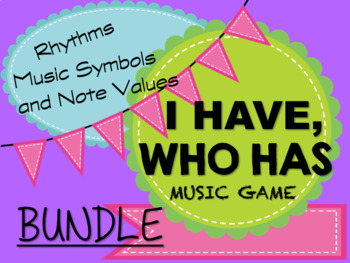 """I Have, Who Has"" Music Game BUNDLE"