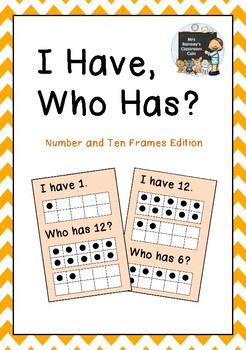 """I Have, Who Has?"" Number and Ten Frames Edition."