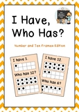 """""""I Have, Who Has?"""" Number and Ten Frames Edition."""