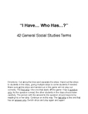 """I Have...Who Has...?"" for 42 General Social Studies Terms"