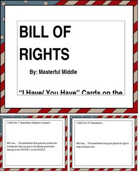 """""""I Have... You Have"""" Bill of Rights"""