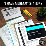 """""""I Have a Dream"""" MLK 2-Day Annotation STATIONS & Quiz"""