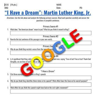 """Interactive Image: """"I Have a Dream"""": Martin Luther King, Jr."""