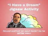 """I Have a Dream"" Speech Jigsaw Activity"
