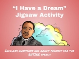 """I Have a Dream"" Speech Jigsaw Activity"