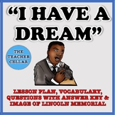 """""""I Have a Dream"""" Speech Lesson Plan, Vocabulary, Questions, and Answer Key"""