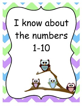 """I Know About the Numbers"" Math Notebook Covers Pack"