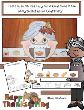 """""""There Was An Old Lady Who Swallowed A Pie"""" Sequencing & Retelling A Story Craft"""