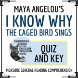 """""""I Know Why The Caged Bird Sings"""" by Maya Angelou Quiz & Key"""