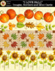 """I LOVE FALL"" Clipart Images, Borders and Mini Cards [Marie Cole Clipart]"