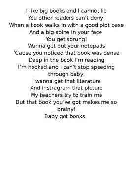 """I Like Big Books"" - Poster Lyrics"