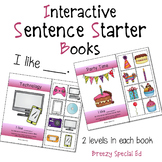 """""""I Like"""" Interactive / Adapted Sentence Starter Book - special education"""