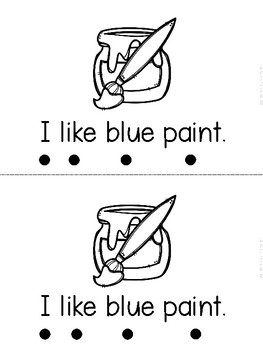 """I Like Paint"" (Fall/September Emergent Reader Dollar Deal)"