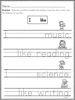 """I Like School"" (A Back to School Emergent Reader Dollar Deal)"