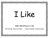 """I Like"" Sight Word Book"