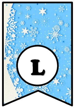 'I Like Winter Because', Winter, Snow, Bulletin Board Sayings Pennant Banner