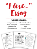 """I Love"" Creative Writing Essay"