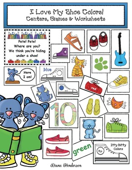 """I Love My Shoe Colors!"" Centers, Games & Worksheets"