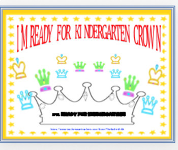 """I'M READY FOR KINDERGARTEN!"" ~ CROWN"