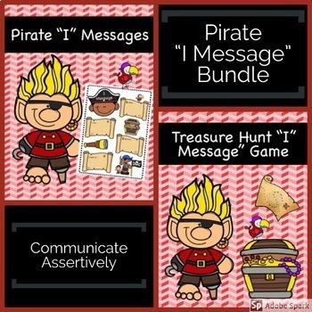 """""""I Message"""" Pirate Bundle: Assertiveness & Communication Skills"""
