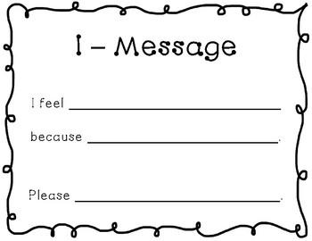 """I Message"" Sign"
