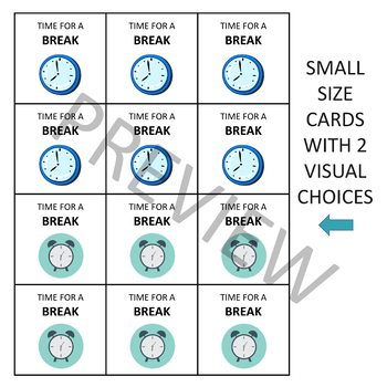 'I NEED A BREAK' CARD SET (SIMPLE EFFECTIVE DESIGN)