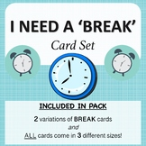 'I NEED A BREAK' CARD SET (SIMPLE EFFECTIVE DESIGN)