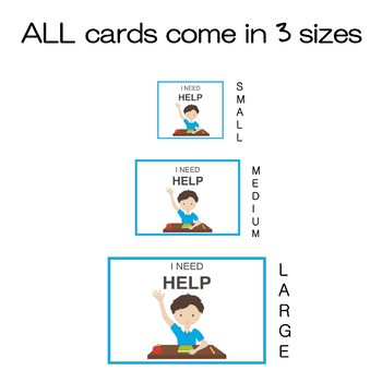 """I NEED HELP"" VISUAL AID for the Classroom. Perfect for kids with special needs!"