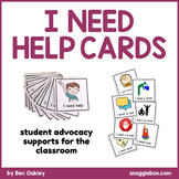 'I Need Help' Advocacy Support Cards
