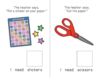 """I Need"" Interactive / Adapted Sentence Starter Book - special education"