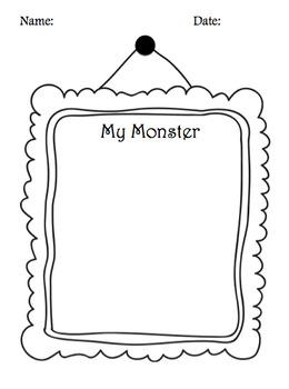 """I Need My Monster"" Writing Activity"