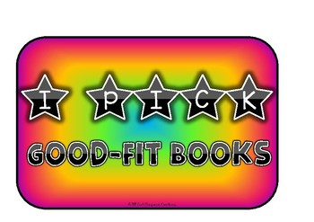 'I PICK Good Fit Books' Reading Posters