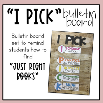 """I Pick"" Bulletin Board Poster Set"