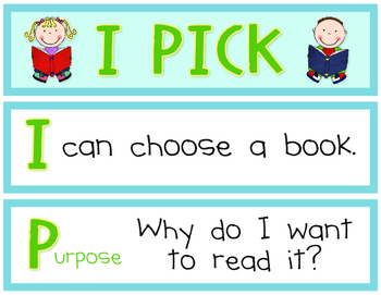 """I Pick"" Daily 5 Reading Sign"