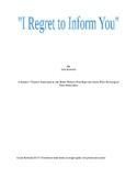 """I Regret to Inform You"""