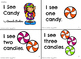 """""""I See Candy"""" December Christmas Leveled Sight Words Mini-Books {4 Levels A-D}"""