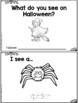 """I See"" Halloween Reader - 3 LEVELS!!!!"