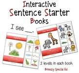 """""""I See"""" Interactive / Adapted Sentence Starter Book - spec"""