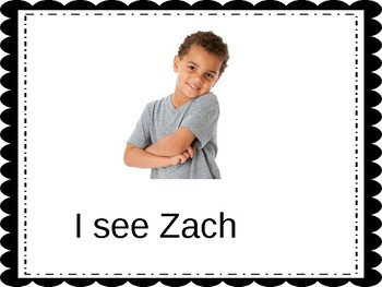 """""""I See My Friends"""" editable adapted book (classmate recognition)"""
