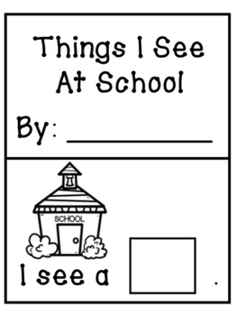 """I See"" Predictable Interactive Book [September School Theme]"